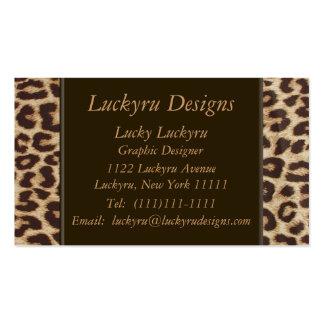 Cartão de visita do impressão do leopardo