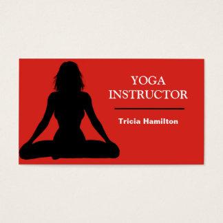 Cartão de visita do instrutor da ioga