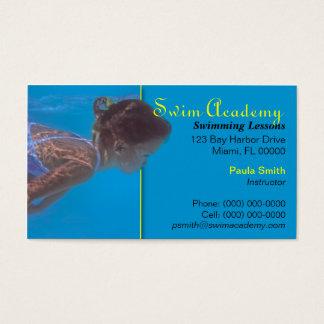Cartão de visita do instrutor da natação