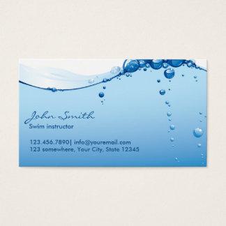 Cartão de visita do instrutor da natação da