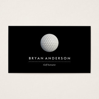 Cartão de visita do instrutor do golfe