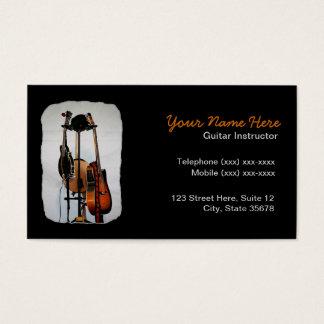 Cartão de visita do instrutor do instrumento