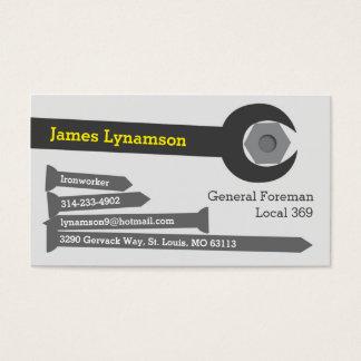 Cartão de visita do Ironworker