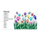 Cartão de visita do jardim do impressão da pata