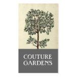 Cartão de visita do jardineiro da oliveira do vint