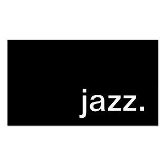 Cartão de visita do jazz
