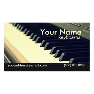 Cartão de visita do jogador de teclado