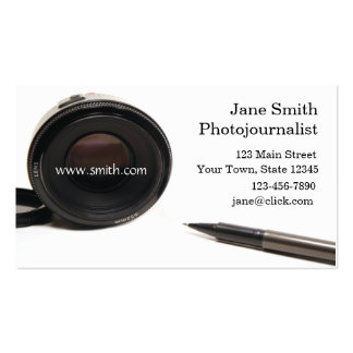Cartão de visita do jornalista fotográfico