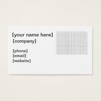 Cartão de visita do Knitter