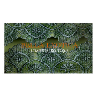Cartão de visita do laço do boutique da lingerie