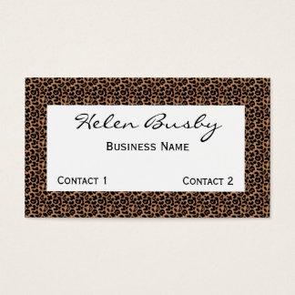 Cartão de visita do leopardo