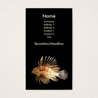 Cartão de visita do Lionfish