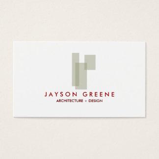 Cartão de visita do logotipo da caixa do meio