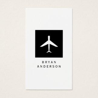 Cartão de visita do logotipo do avião