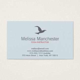Cartão de visita do logotipo do pássaro em vôo (Lt