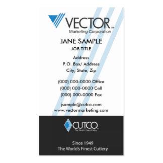 Cartão de visita do marketing do vetor