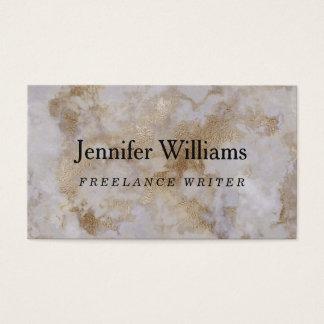 Cartão de visita do mármore do ouro do vintage