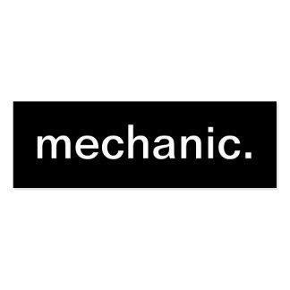 Cartão de visita do mecânico