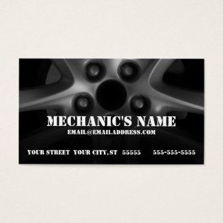 Cartão de visita do mecânico com roda