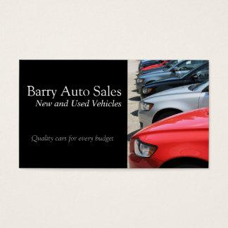 Cartão de visita do mecânico das vendas do carro