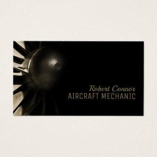 Cartão de visita do mecânico de aviões do motor do