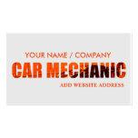 Cartão de visita do mecânico de carro