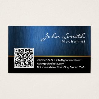 Cartão de visita do mecânico do código dos azuis