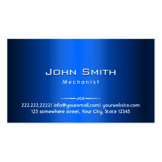 Cartão de visita do mecânico do metal dos azuis ma
