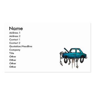 Cartão de visita do mecânico do motor