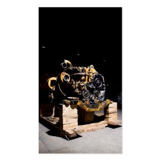 Cartão de visita do mecânico do motor diesel
