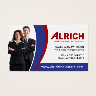 Cartão de visita do mediador imobiliário