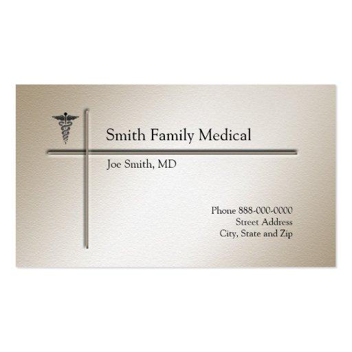 Cartão de visita do médico