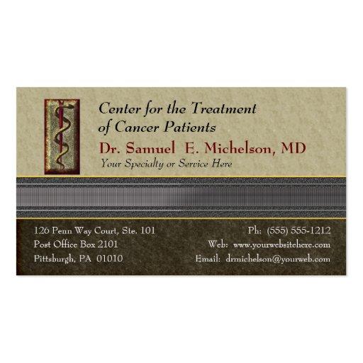 Cartão de visita do médico da elegância do negócio