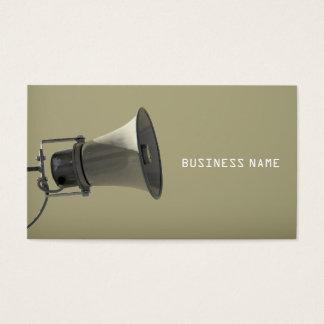 Cartão de visita do megafone
