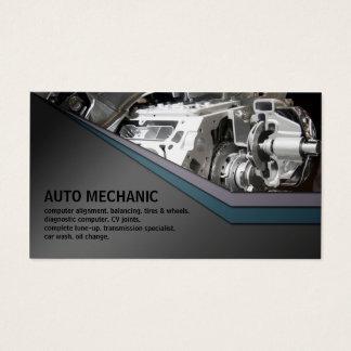 Cartão de visita do metal do serviço do auto