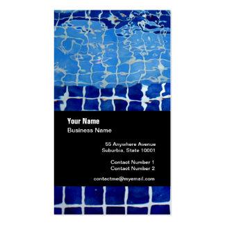 Cartão de visita do modelo da empresa da piscina