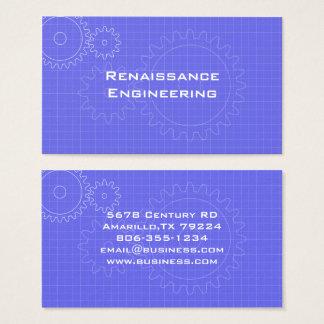 Cartão de visita do modelo das engrenagens