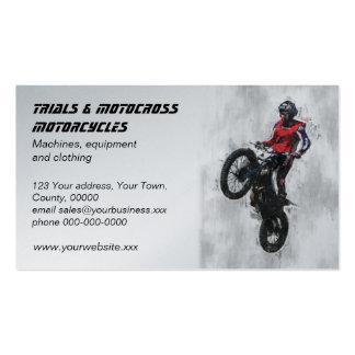 Cartão de visita do motocross das experimentações