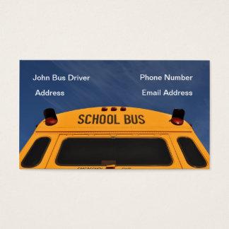 Cartão de visita do motorista de auto escolar