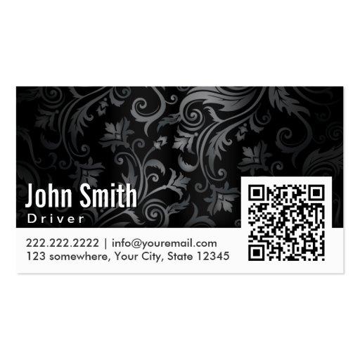 Cartão de visita do motorista do código do ornamen