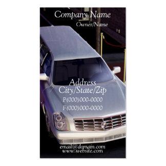 Cartão de visita do motorista do Limo da limusina
