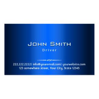 Cartão de visita do motorista do metal dos azuis m