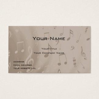 Cartão de visita do músico