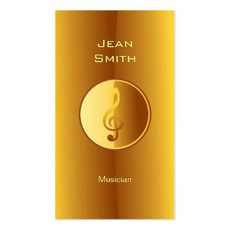Cartão de visita do músico do símbolo de música do