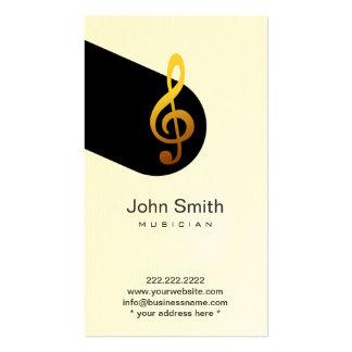 Cartão de visita do músico do símbolo de música mo