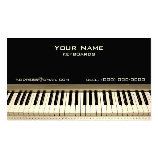 Cartão de visita do músico do teclado