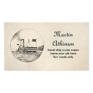 cartão de visita do navio de cruzeiros