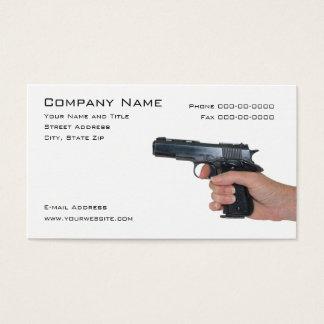 Cartão de visita do negociante das armas de fogo