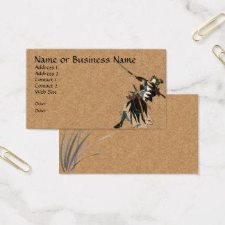 Cartão de visita do negócio do guerreiro do