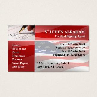 Cartão de visita do notário